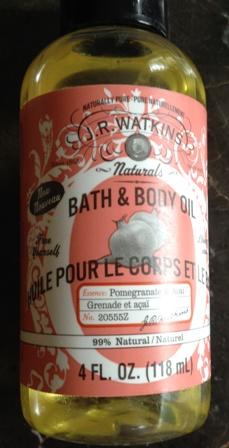 JR Watkins Bath And Body Oil