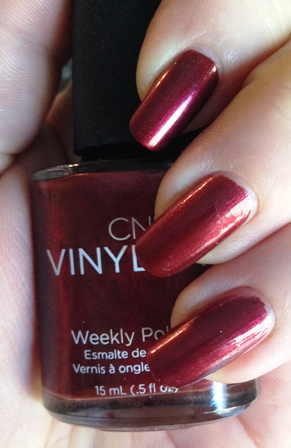 CND Vinylux Modern Folklore Crimson Sash Swatch