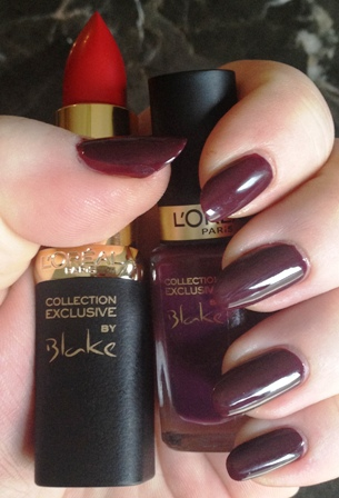 Blake's Pure Red Lipstick and Nail Polish Swatch