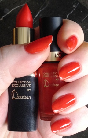 Doutzen's Pure Red Lipstick And Polish Swatch