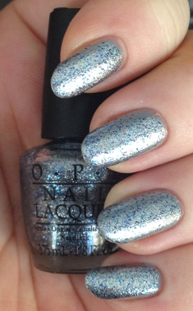 OPI Shine For Me over Cement The Deal Swatch