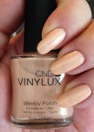 CND Vinylux Dandelion Swatch - Shimmery Light Peach