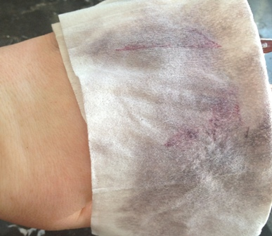 Glacial Cleansing Clothes Swatches After