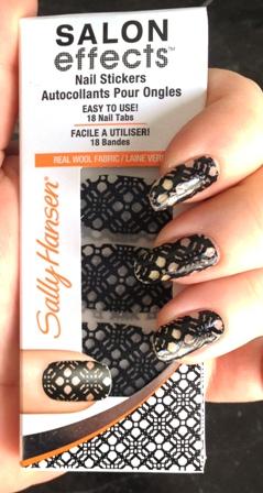 Sally Hansen Salon Effects Black To Basics Swatch