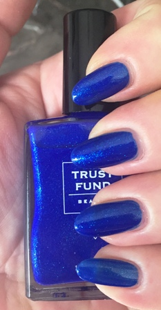 Trust Fund Beauty Denim With Diamonds Swatch - one coat, no staining
