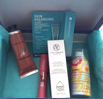 Birchbox August 2015 Contents