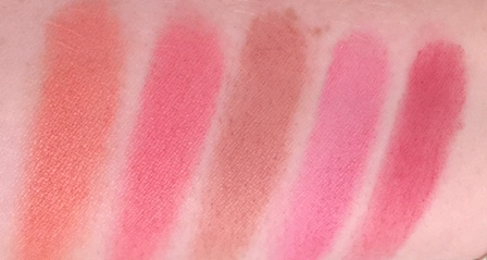 Too Faced Love Flush Swatches