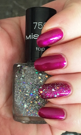 Misslyn Effect Top Coat 756 Mirror Ball Swatch