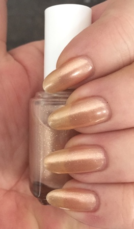 Essie Sequin Sash Swatch - 3 coats, sheer
