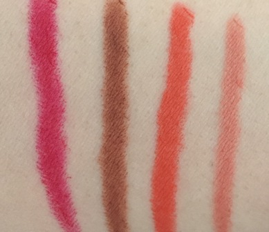 MAC Velvetease Lip Pencil Swatches