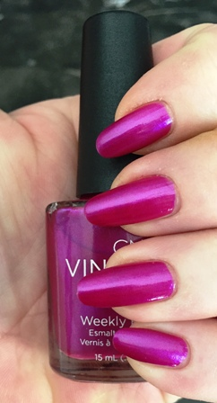 CND Vinylux Magenta Mischief Swatch - Could've been 1 coat