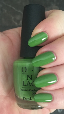 OPI I'm Sooo Swamped! Swatch - brush seemed a little narrower, perfect