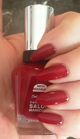 Sally Hansen Complete Salon Manicure Red Over Heels Swatch - 1 Coat