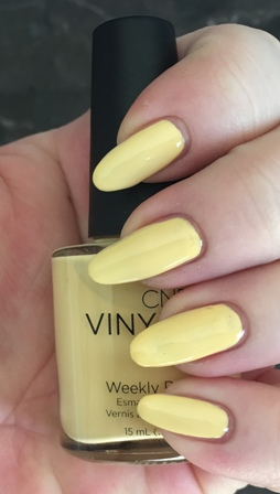 CND Vinylux Honey Darlin' Swatch - Frayed Brush