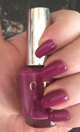 OPI Don't Provoke The Plum! Swatch - almost 1 coat 2