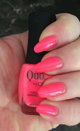 Quo By Orly Pink Bikini Swatch.