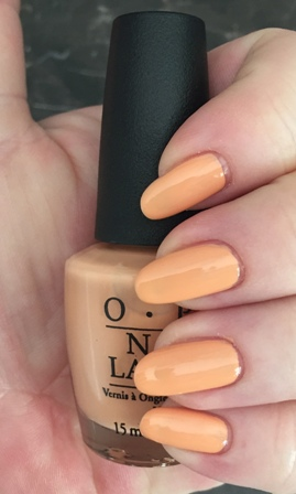 OPI I'm Getting A Tan-Gerine Swatch