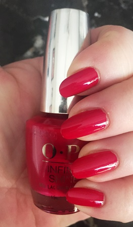 OPI Infinite Shine OPI Red Swatch